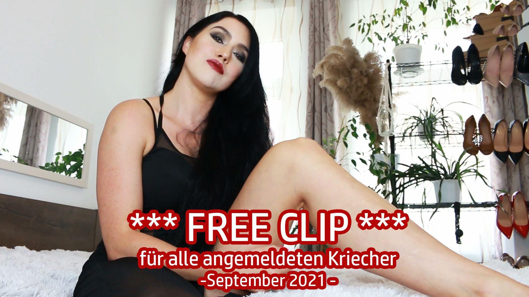 FREE CLIP für alle angemeldeten Kriecher - September 2021